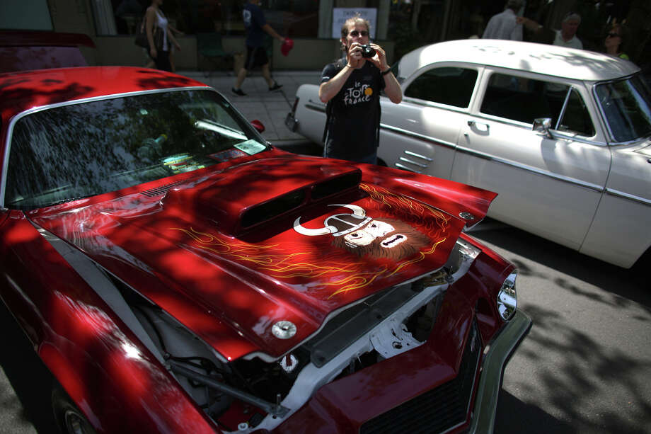 A car is photographed during the Greenwood Car Show on Saturday, June 29, 2013 in Seattle. The annual show is the largest single-day car show in the state. Photo: JOSHUA TRUJILLO, SEATTLEPI.COM
