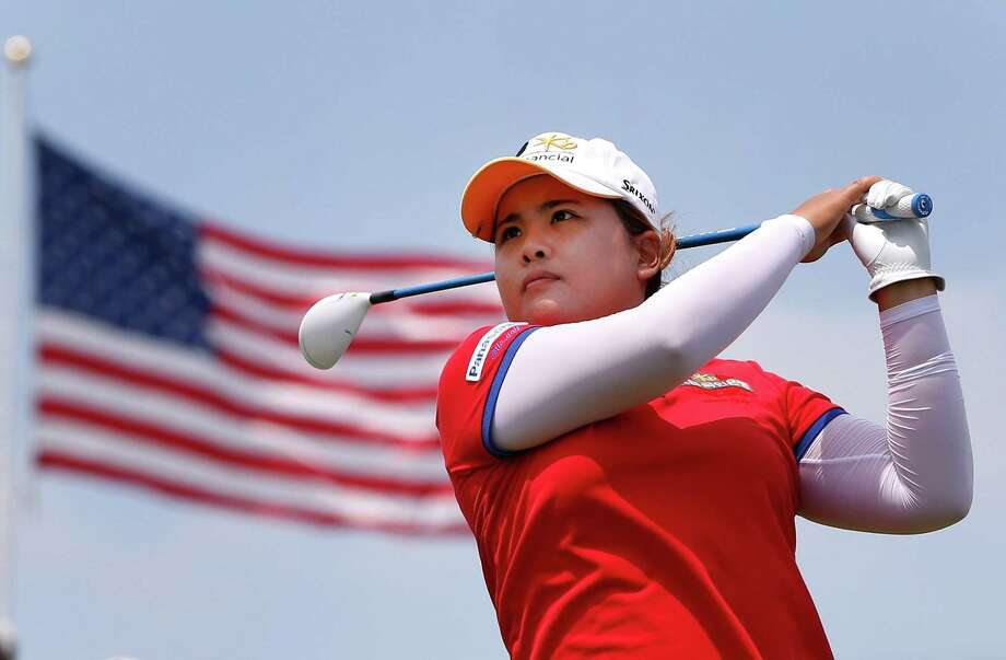 Inbee Park tees off in the third round of the U.S. Women's Open en route to a hard-earned 71. Photo: Gregory Shamus / Getty Images