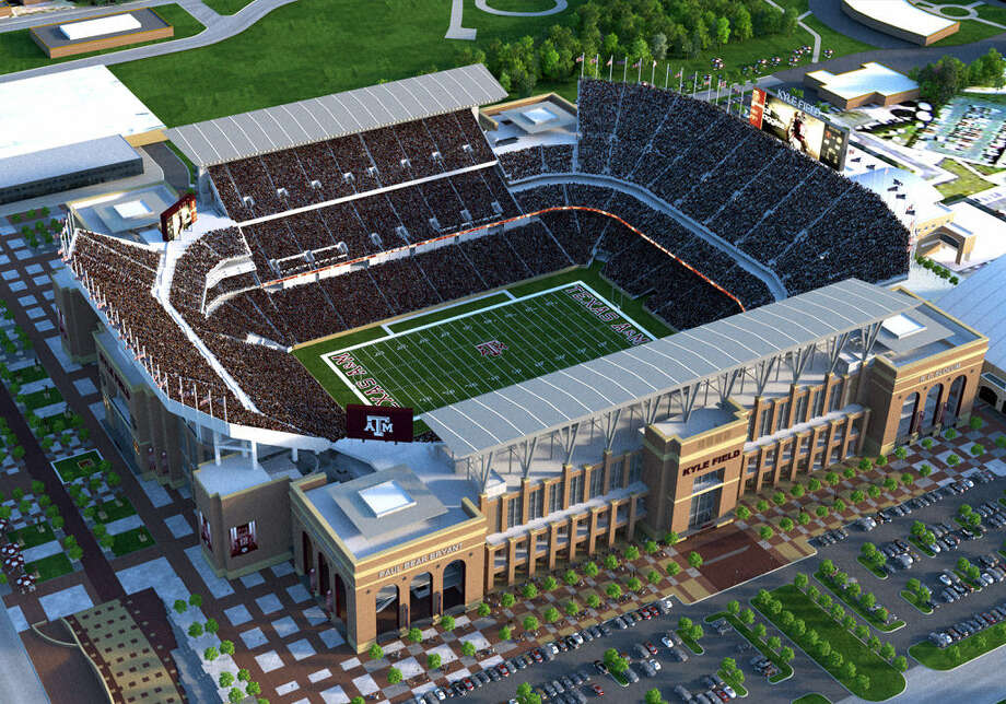 The new and improved Kyle Field is slated to seat 102,500, and Texas A&M officials are hoping it will be completed by August 2015. Photo: Courtesy Rendering