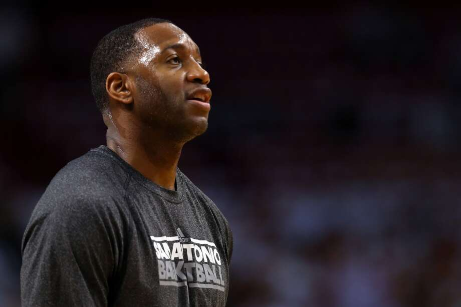 TRACY MCGRADY  Position: Forward/guard  2012-13 (postseason): 0.0 ppg, 1.3 rpg, 1.2 apg  Status: Unrestricted  PHOTO: McGrady looks on before Game 6 against the Miami Heat at American Airlines Arena on June 18, 2013, in Miami. (Mike Ehrmann / Getty Images)