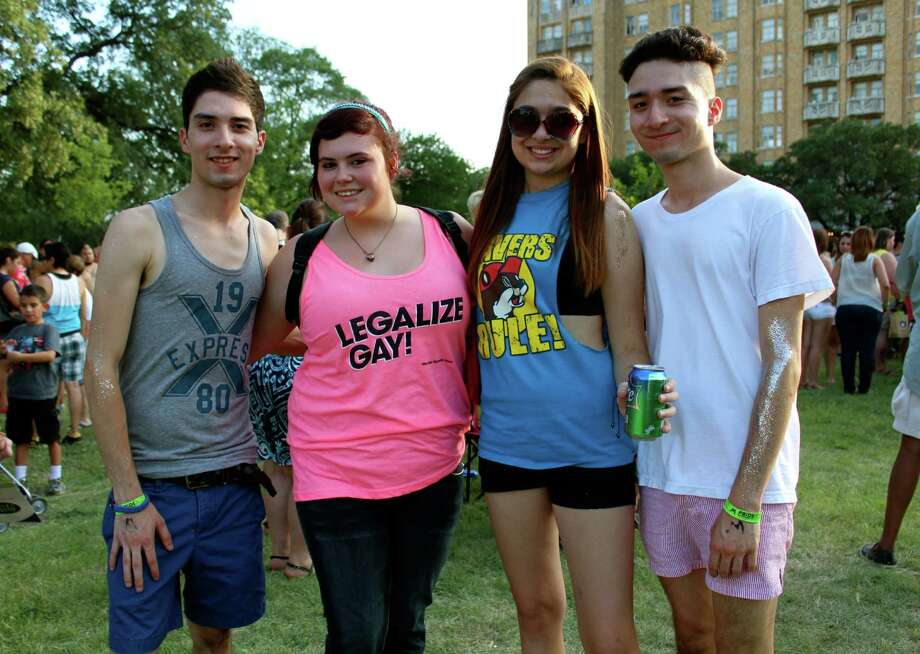 Members of San Antonio's gay and lesbian community and their supporters attend Pride Bigger than Texas at Crockett Park on Saturday, June 29, 2013. Photo: Yvonne Zamora / For MySA.com