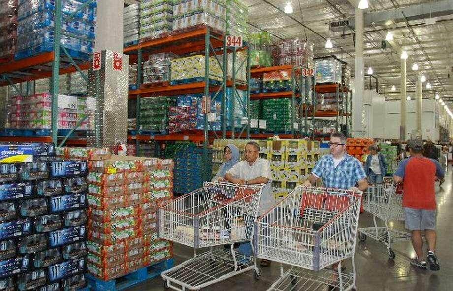 Members shopping at Costco.