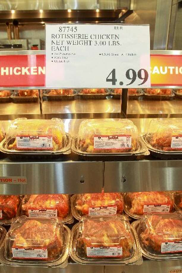 Rotisserie chicken in the deli department. One of Costco's signature items.