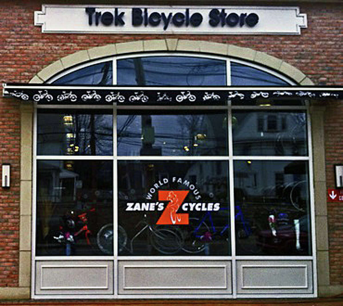 Trek Bicycle Store in the downtown Brick Walk shopping complex has been purchased by Zane's Cycles, a Branford-based business.