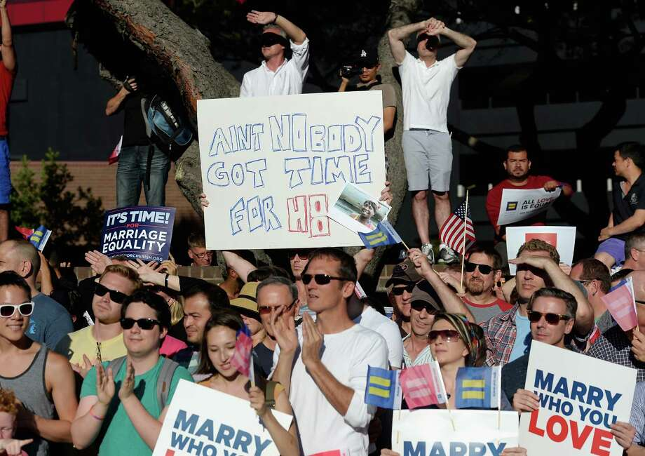 "9. Los Angeles ""L.A. placed solidly in nearly all criteria, allowing the City of Angels to squeeze in at number 9,""stated the Real estate brokerage Movoto's blog.Pictured: Same-sex marriage supporters celebrate the US Supreme Court ruling during a community rally on June 26 in West Hollywood. Photo: Kevork Djansezian, Getty Images / 2013 Getty Images"