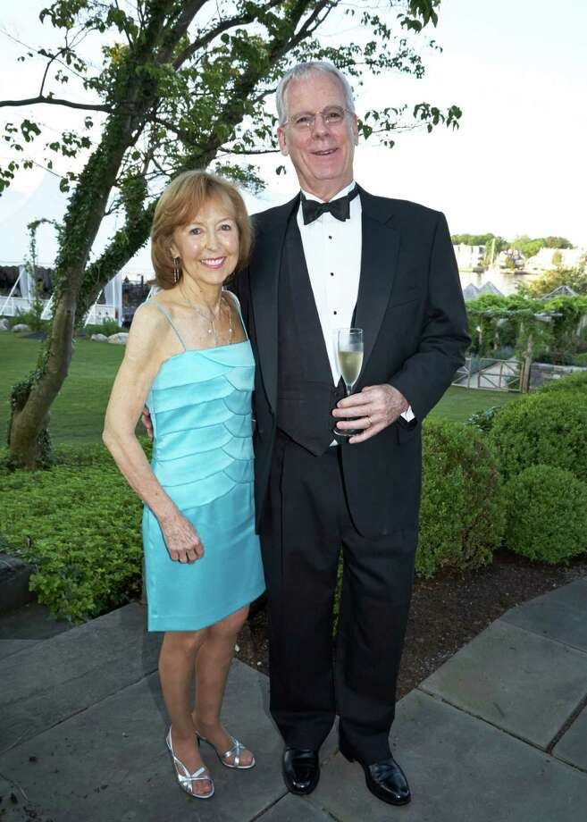 "Hazel and Mike Hobbs of New Canaan are all decked out for the Family Centers' benefit ""Gatsby on the Sound."" Photo: Contributed Photo, Contributed / New Canaan News Contributed"