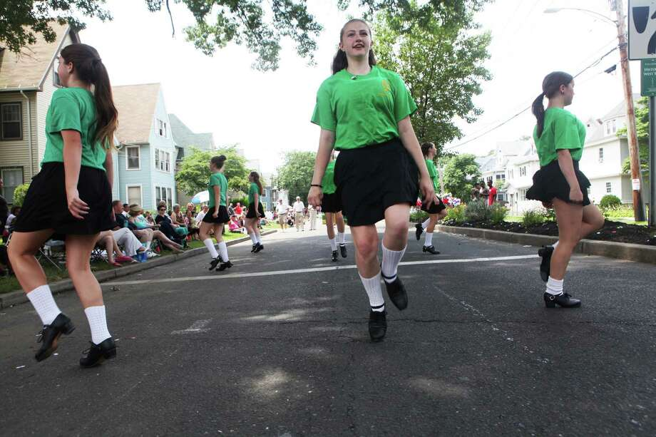 Kelly Scianna, 14, of Milford, dances with Kathleen Mulkerin School of Irish Dance in The Great Street Parade as part of the Barnum Festival on North Ave. in Bridgeport, Conn, on Sunday, June 30, 2013. Photo: BK Angeletti, B.K. Angeletti / Connecticut Post freelance B.K. Angeletti