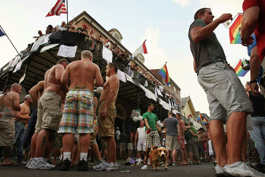 20. New Orleans Men party on Bourbon Street during the annual gay Southern Decadence 2008 in New Orleans. Photo: Mario Tama, Getty Images / 2008 Getty Images