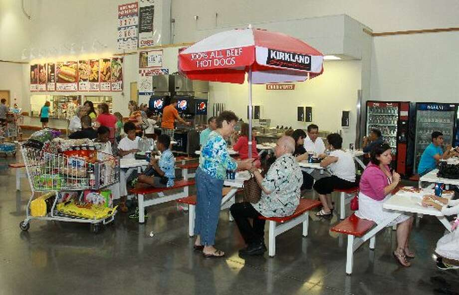 Snack dining area at Costco.