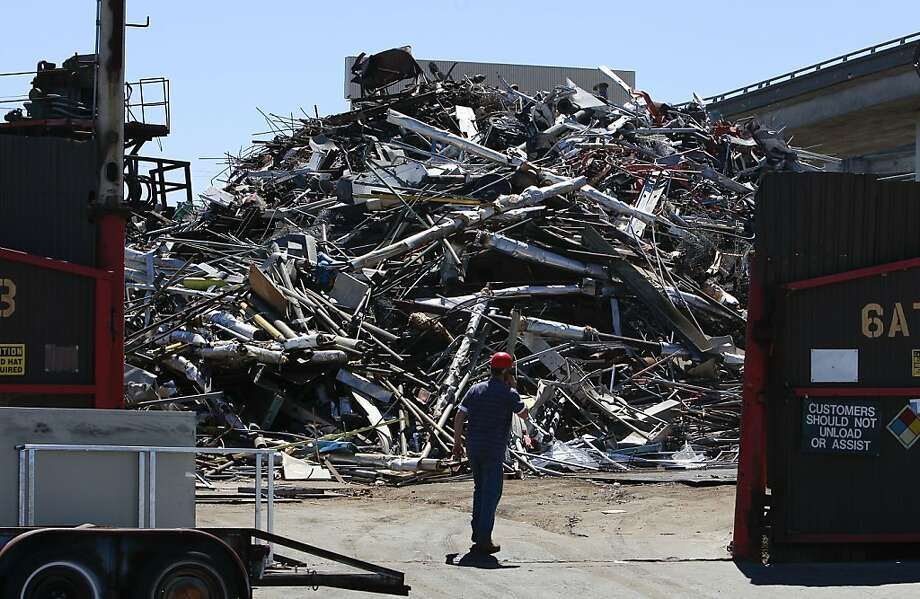 Metal is processed for recycling at the Circosta plant. Copper is a hot target for thieves. Photo: Michael Macor, The Chronicle
