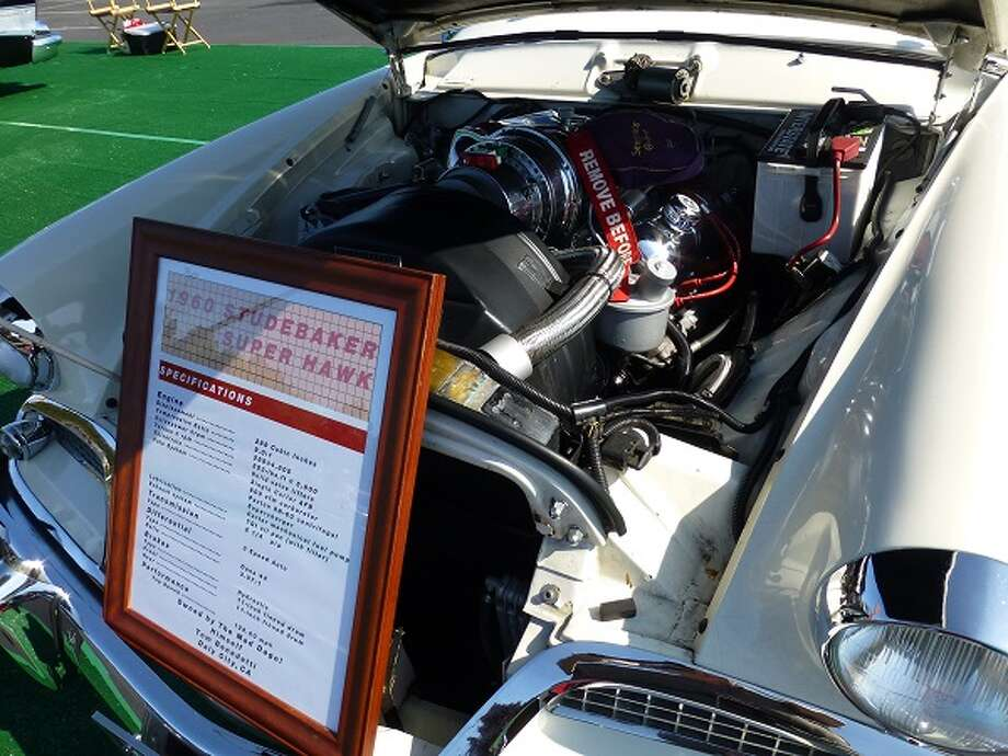 Engine bay of a 1960 Studebaker Hawk. Owner: Thomas Benedetti.