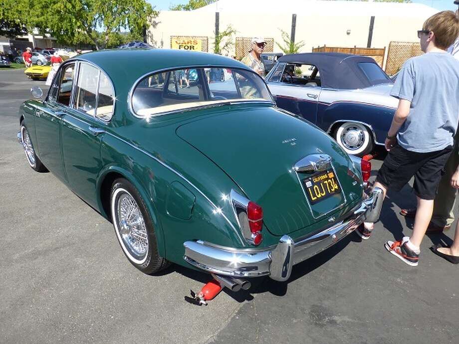 1962 Jaguar Mark II. Its owner, Gabriele Lanusse, said it's gone 349 miles since emerging from a six-year restoration.