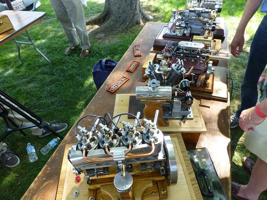 Functioning model engines were displayed by the Bay Area Engine Modelers Club.