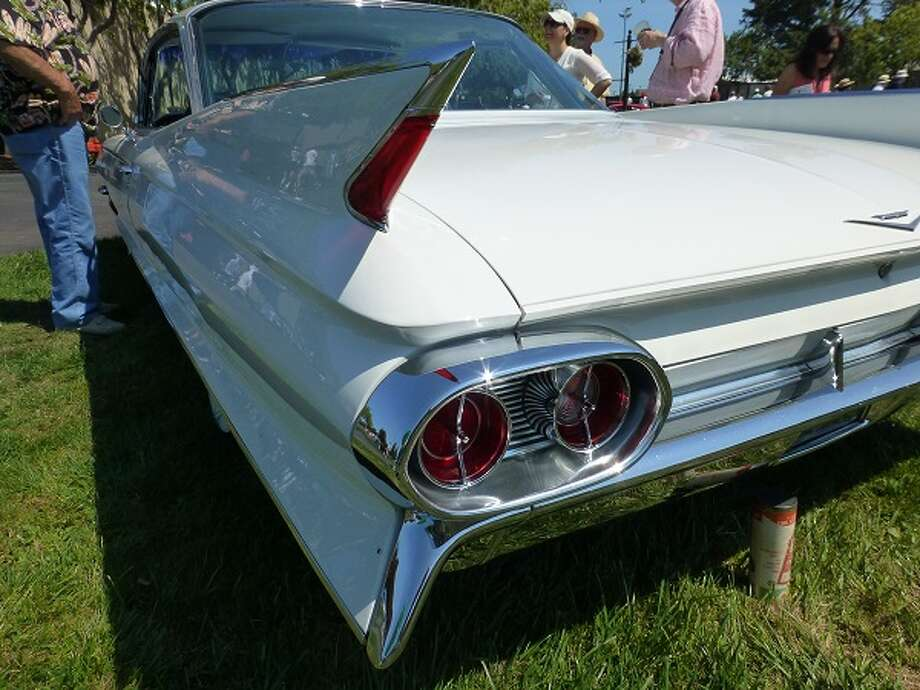 Ah, those Cadillac tail fins. This one is on a 1961 Cadillac Coupe de Ville owned by Dave Carelli.