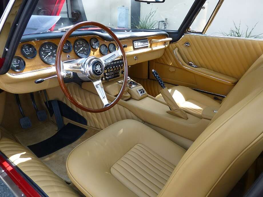 Interior of a 1965 Iso Grifo owned by Sandro Lee.