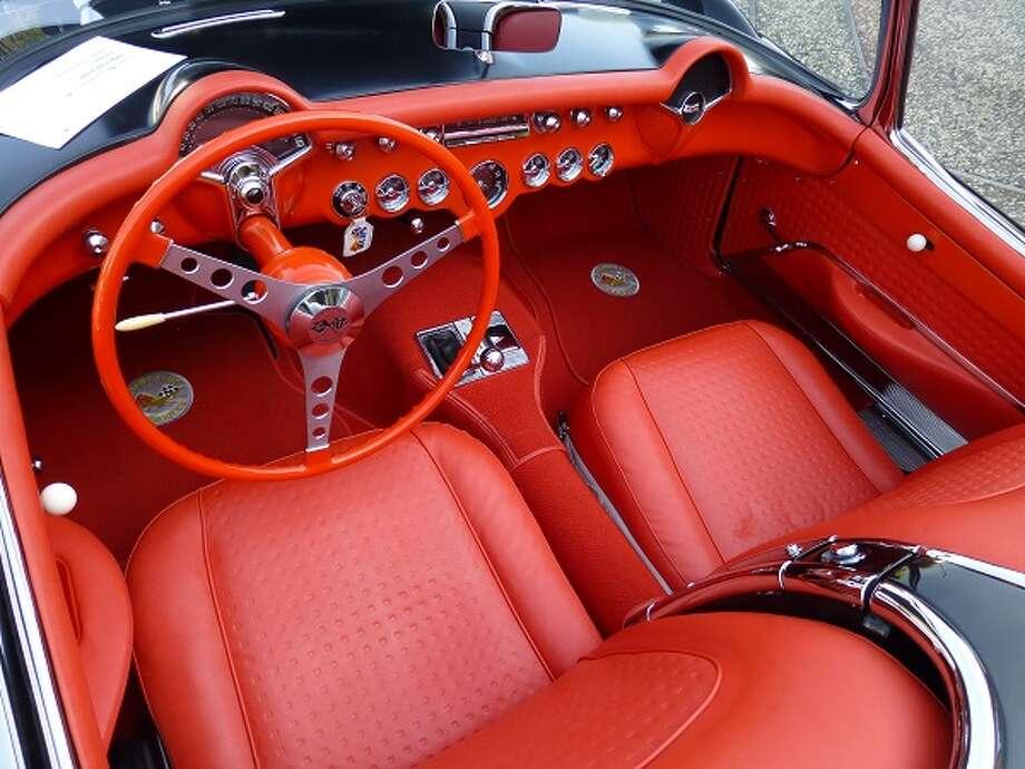 Interior of Scott Hawley's 1956 Corvette.