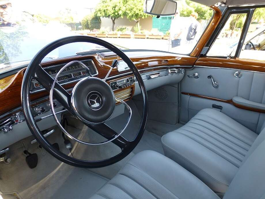 Inside the Sullys' 1960 Mercedes-Benz.