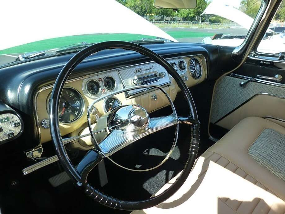 Inside a 1956 Plymouth Fury. Owner: Gary Day.