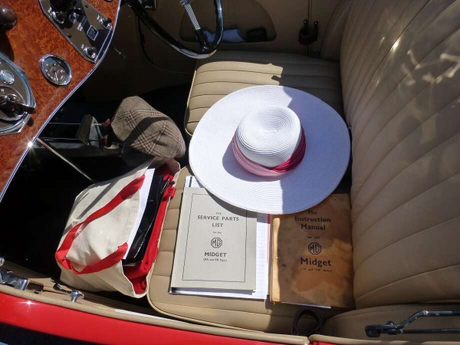 Original manuals, on the seat of Peter Boot's 1935 MG.