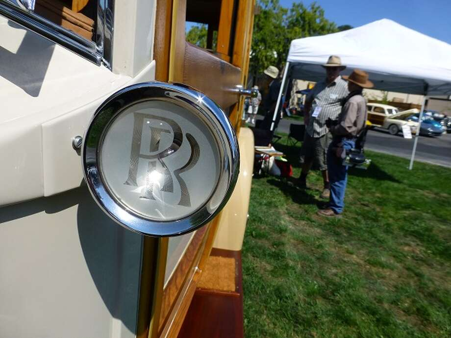 Along the driver's side of John Carey's Rolls-Royce.