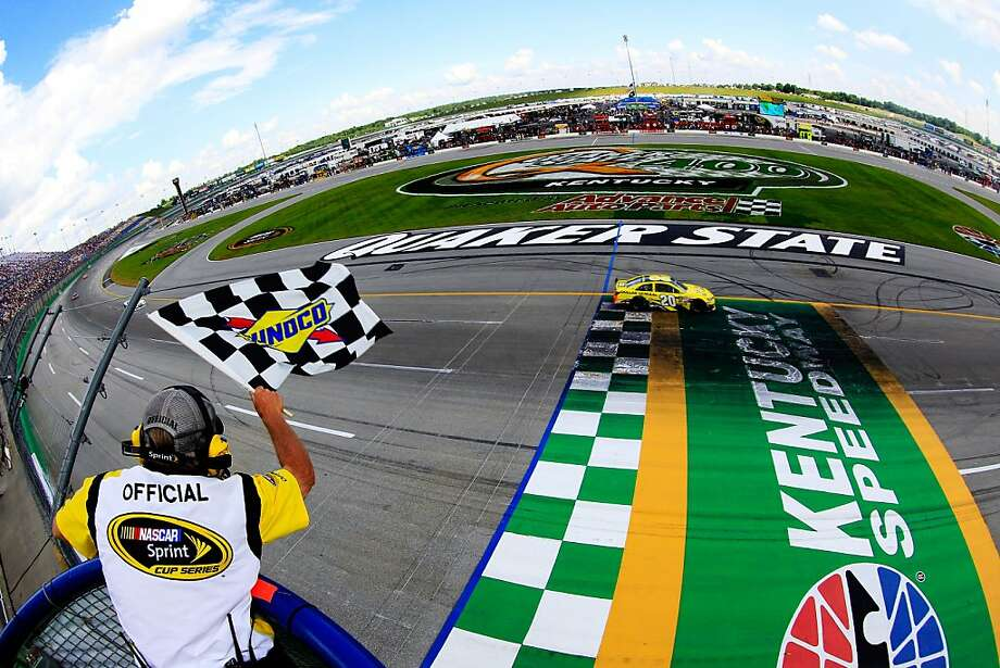 There's nothing distorted about Matt Kenseth's win Sunday at Kentucky Speedway on Sunday. Photo: Sean Gardner, NASCAR Via Getty Images