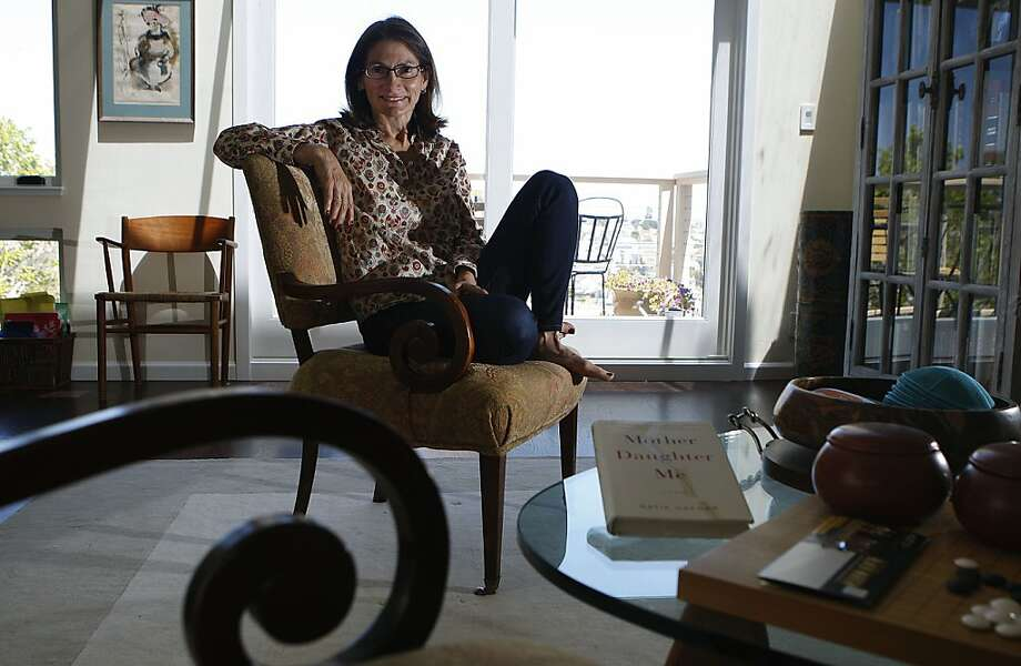 "Katie Hafner, a Bay Area journalist who was a San Francisco based New York Times reporter has written a memoir ""Mother Daughter Me""  and is at home in San Francisco , Calif., on Thursday, June 13, 2013. Photo: Liz Hafalia, The Chronicle"