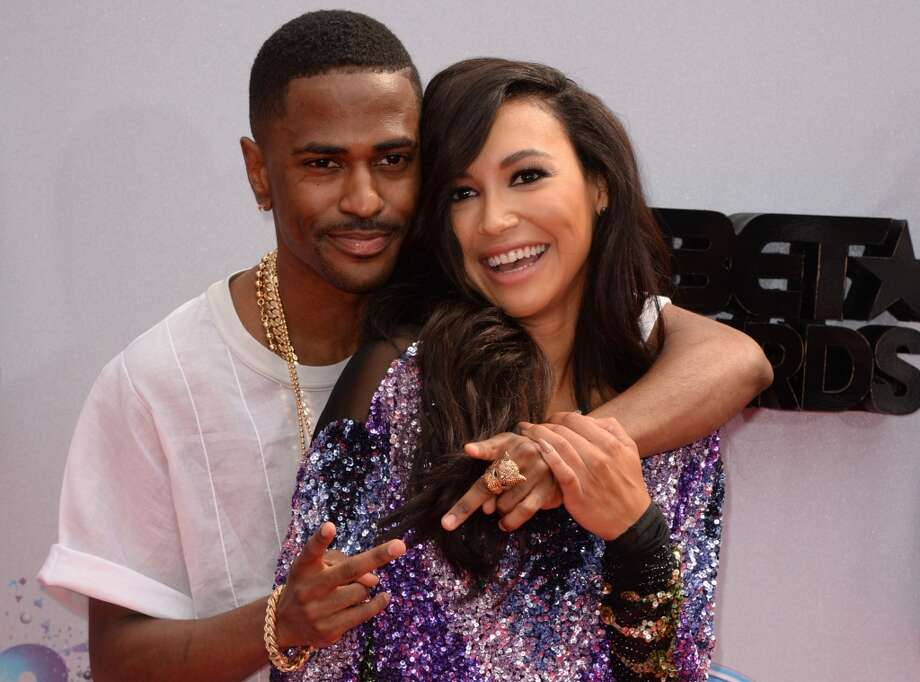 Rapper Bigh Sean and actress Naya Rivera arrive for the 2013 BET Awards at the Nokia Theatre L.A. Live in Los Angeles on June 30, 2013.  The awards ceremony recognizes Americans in music, movies, sports and other fields of entertainment over the past year.  AFP PHOTO / ROBYN BECK        (Photo credit should read ROBYN BECK/AFP/Getty Images)