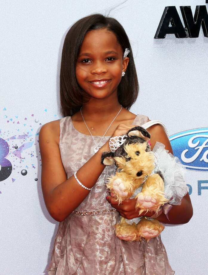 LOS ANGELES, CA - JUNE 30: Actress Quvenzhané Wallis attends the 2013 BET Awards at Nokia Theatre L.A. Live on June 30, 2013 in Los Angeles, California.  (Photo by Frederick M. Brown/Getty Images for BET)