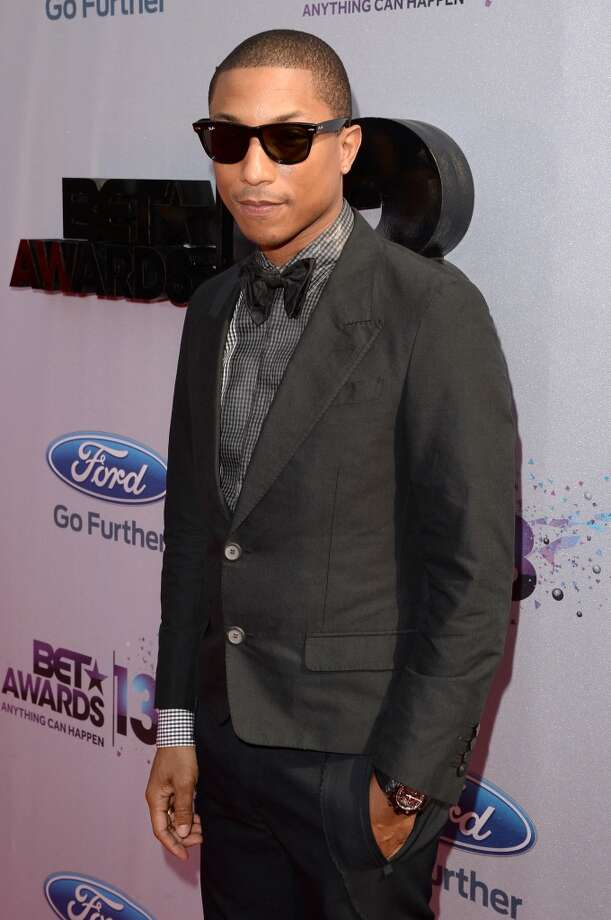 LOS ANGELES, CA - JUNE 30:  Recording Artist Pharrell Williams attends the Ford Red Carpet at the 2013 BET Awards at Nokia Theatre L.A. Live on June 30, 2013 in Los Angeles, California.  (Photo by Jason Merritt/BET/Getty Images for BET)
