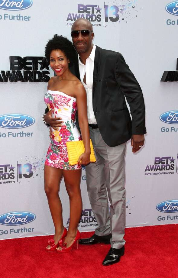 LOS ANGELES, CA - JUNE 30:  Actor J.B. Smoove (R) and wife Shahidah Omar attend the 2013 BET Awards at Nokia Theatre L.A. Live on June 30, 2013 in Los Angeles, California.  (Photo by Frederick M. Brown/Getty Images for BET)