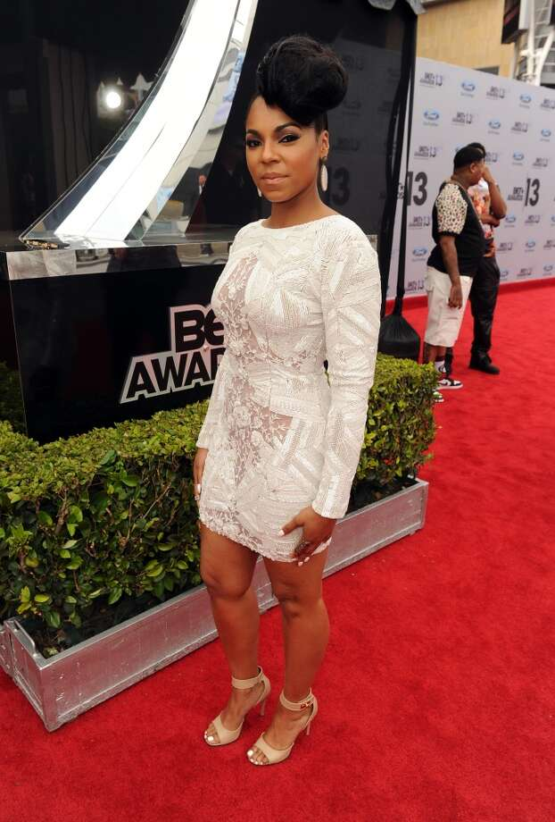 LOS ANGELES, CA - JUNE 30:  Singer Ashanti attends the Ford Red Carpet at the 2013 BET Awards at Nokia Theatre L.A. Live on June 30, 2013 in Los Angeles, California.  (Photo by Kevin Winter/BET/Getty Images for BET)