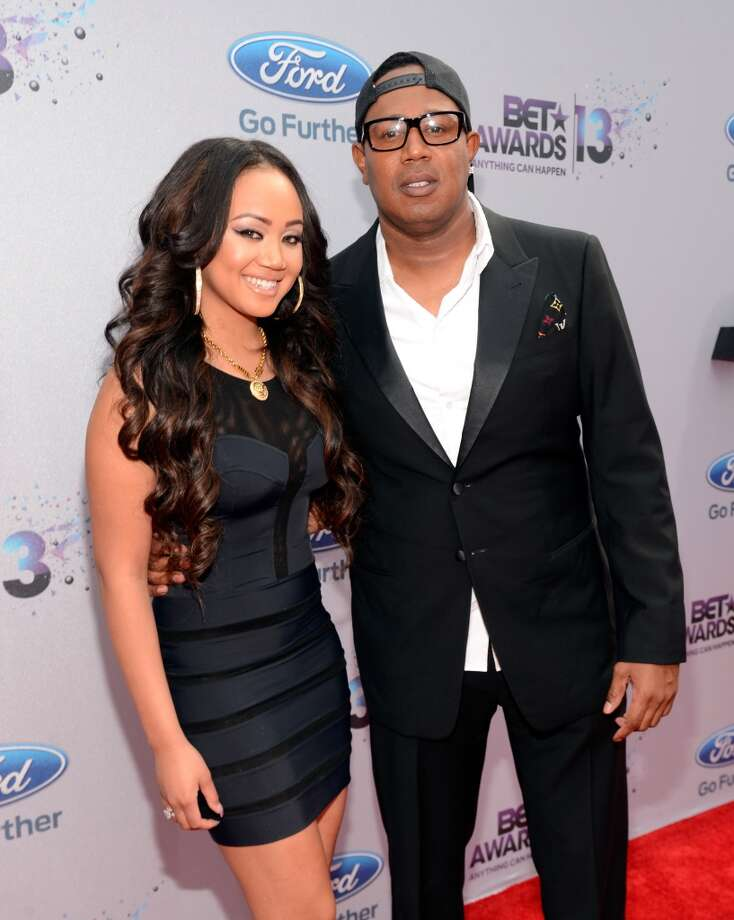 LOS ANGELES, CA - JUNE 30:  Actress Cymphonique Miller and father Master P attend the Ford Red Carpet at the 2013 BET Awards at Nokia Theatre L.A. Live on June 30, 2013 in Los Angeles, California.  (Photo by Kevin Mazur/BET/Getty Images for BET)