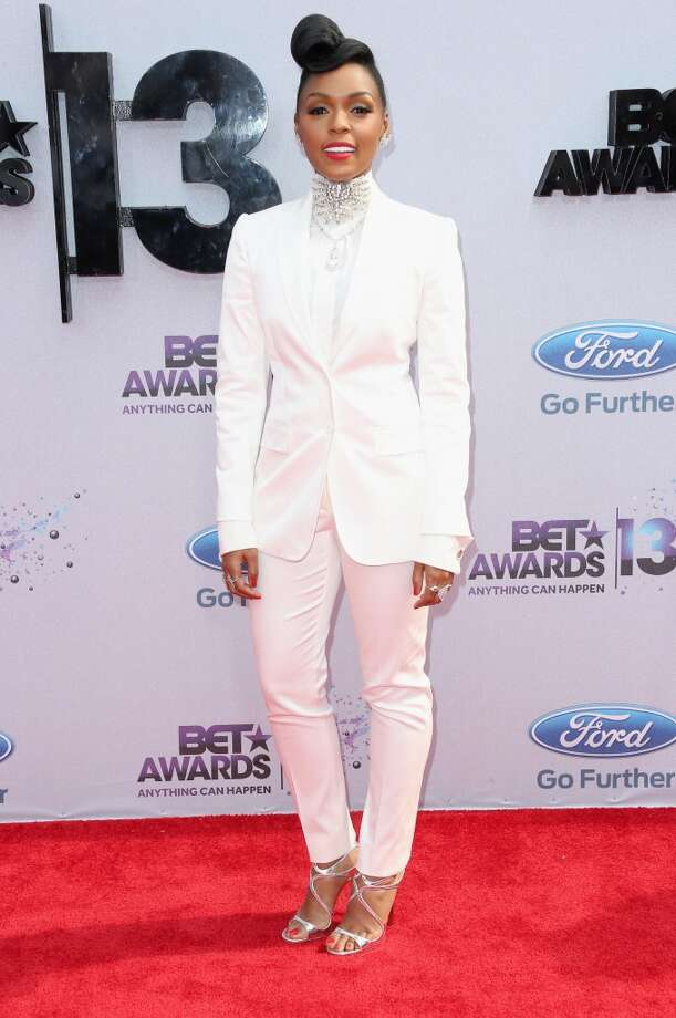 LOS ANGELES, CA - JUNE 30:  Recording artist Janelle Monae attends the 2013 BET Awards at Nokia Theatre L.A. Live on June 30, 2013 in Los Angeles, California.  (Photo by Frederick M. Brown/Getty Images for BET)