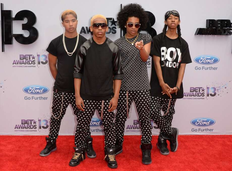 US boy band Mindless Behavior arrives for the 2013 BET Awards at the Nokia Theatre L.A. Live in Los Angeles on June 30, 2013.  The awards ceremony recognizes Americans in music, movies, sports and other fields of entertainment over the past year.  AFP PHOTO / ROBYN BECK        (Photo credit should read ROBYN BECK/AFP/Getty Images)