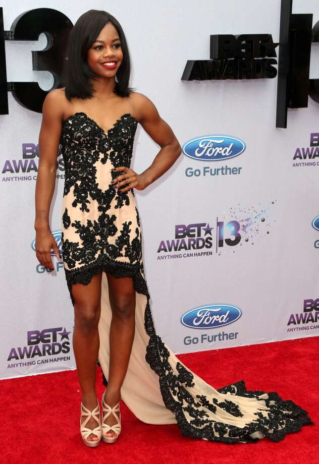 LOS ANGELES, CA - JUNE 30:  Gymnast Gabby Douglas attends the 2013 BET Awards at Nokia Theatre L.A. Live on June 30, 2013 in Los Angeles, California.  (Photo by Frederick M. Brown/Getty Images for BET)