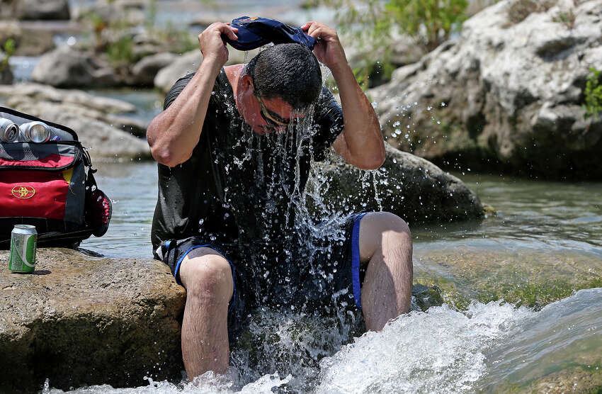 Click through the gallery to see how hot it is in the Alamo City.