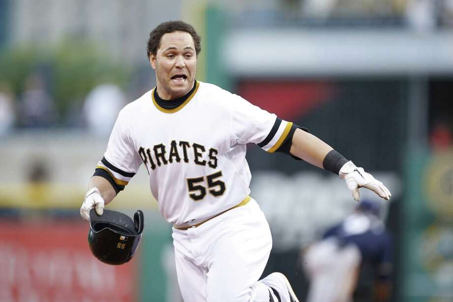 Russell Martin drove in the winning run for the Pirates, who are a major league-best 51-30. Photo: Joe Robbins / Getty Images