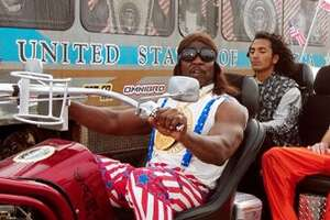 "President Dwayne Elizondo Mountain Dew Herbert Camacho (Terry Crews)  ""Idiocracy"" (2006)  ""I know (expletive is) bad right now, with all that starving (expletive), and the dust storms, and we are running out of french fries and burrito coverings. But I got a solution."""