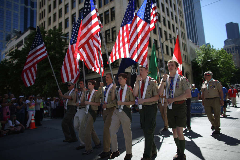 Boy Scouts lead the march during the annual Pride Parade. Photo: JOSHUA TRUJILLO, SEATTLEPI.COM
