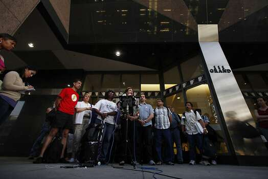 BART unions detailed why they left negotiations during a press conference Sunday. Negotiations between BART and its unions broke down late Sunday evening, June 30, 2013, in Oakland, Calif., almost assuring a strike by Monday morning. Photo: Carlos Avila Gonzalez, The Chronicle