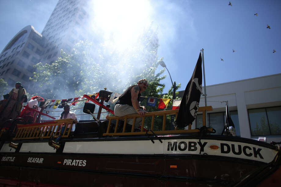 The Seafair Pirates ride Moby Duck during the annual Pride Parade. Photo: JOSHUA TRUJILLO, SEATTLEPI.COM