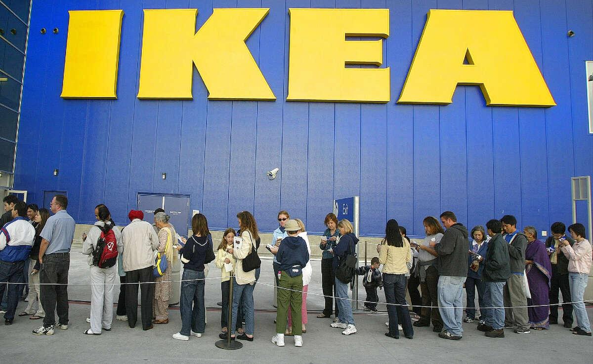 Customers outside an IKEA in East Palo Alto.