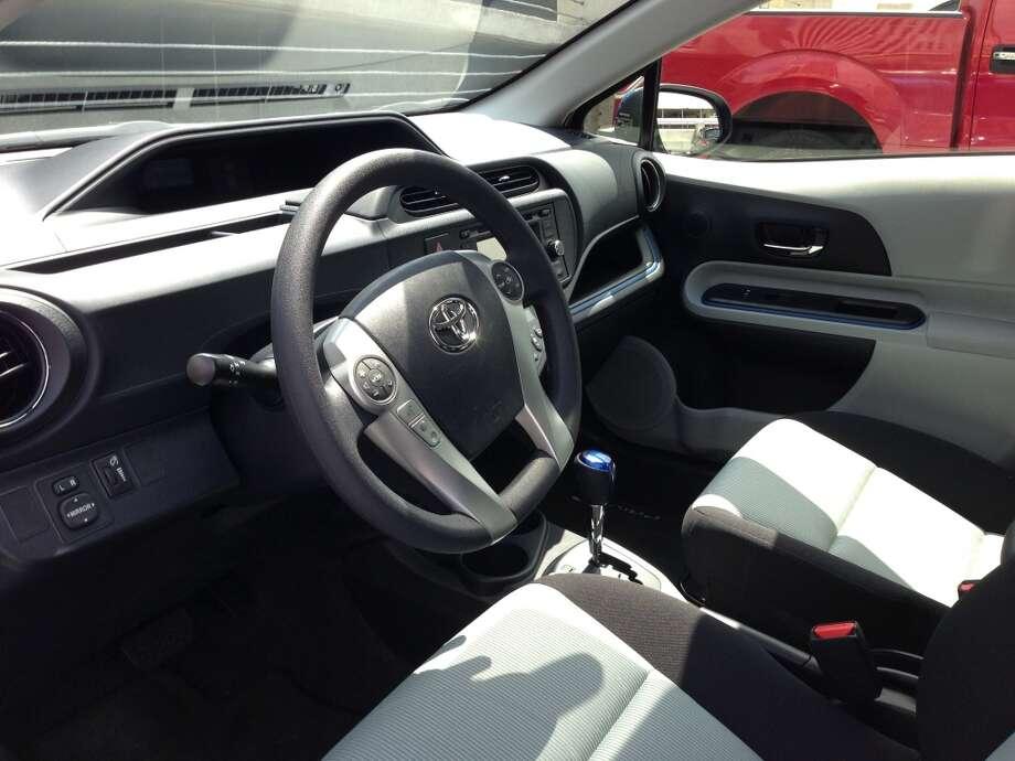 Interior, 2013 Prius C