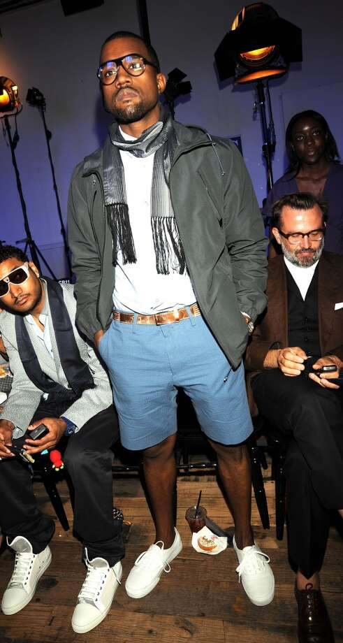 Rapper Kanye West attends the Lanvin fashion show during Paris Fashion Week Spring/Summer 2009 at the Museum of Man June 29, 2008 in Paris, France.  (Photo by Dominique Charriau/WireImage)
