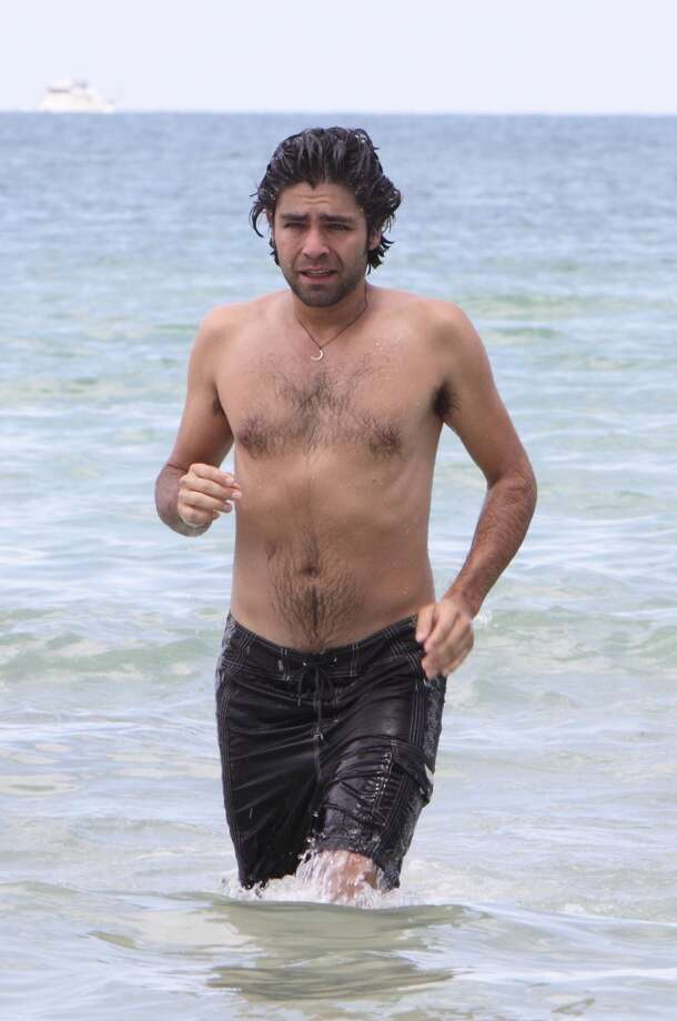 Adrian Grenier is sighted on the beach on July 23, 2009 in Miami Beach, Florida. (Photo by John Parra/WireImage)