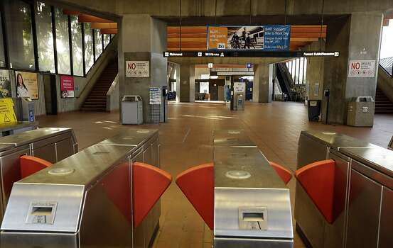 The Fruitvale BART station is closed due to a worker strike Monday, July 1, 2013, in Oakland, Calif. Negotiations between the two largest unions representing more than 2,300 Bay Area Rapid Transit workers and BART management broke off late Sunday despite the request of California Gov. Jerry Brown in a last-ditch effort to reach a deal. (AP Photo/Ben Margot) Photo: Ben Margot, Associated Press