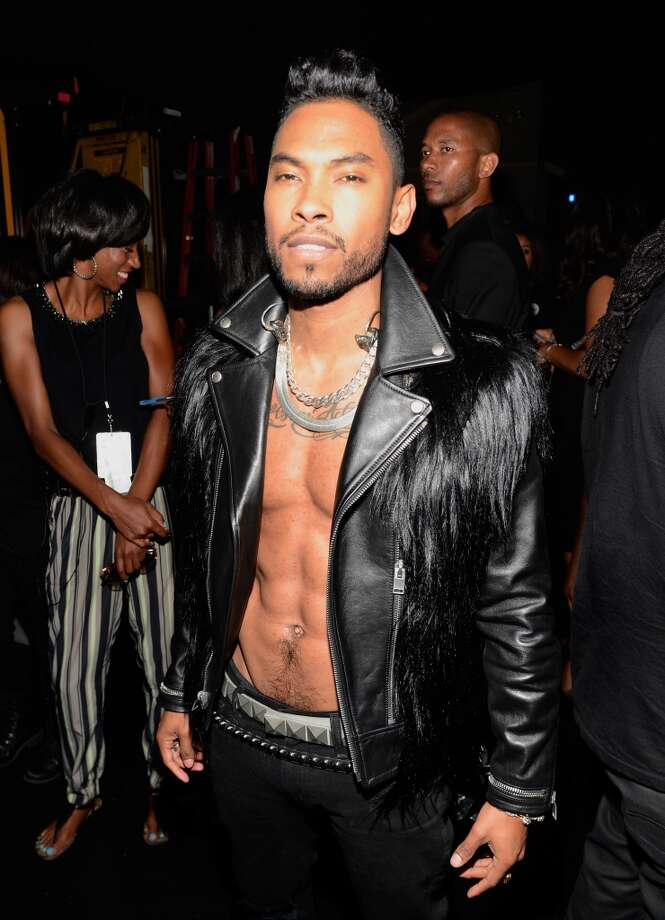 LOS ANGELES, CA - JUNE 30:  Singer Miguel poses backstage during the 2013 BET Awards at Nokia Theatre L.A. Live on June 30, 2013 in Los Angeles, California.  (Photo by Kevin Mazur/BET/Getty Images for BET)