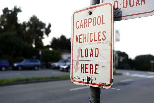 The sign for the casual carpool lane during strikes against BART in Oakland, Calif. on July 1, 2013. Photo: Ian C. Bates, The Chronicle