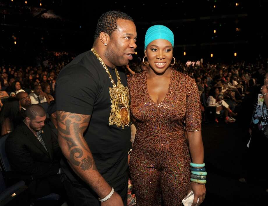 LOS ANGELES, CA - JUNE 30:  Rapper Busta Rhymes and singer India.Arie onstage during the 2013 BET Awards at Nokia Theatre L.A. Live on June 30, 2013 in Los Angeles, California.  (Photo by Kevin Winter/Getty Images for BET)