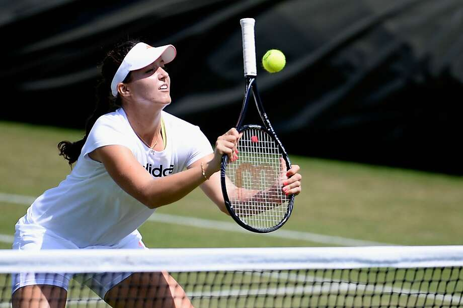 Volley-challenged: Britain's No. 1 player, Laura Robson, is guaranteed to be ranked in the world's top 30 after Wimbledon despite her weak net game. Photo: Dennis Grombkowski, Getty Images